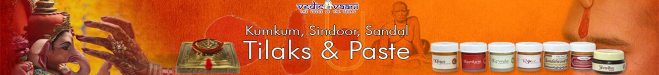 Kumkum, Sindoor, Sandal Tilaks & Paste